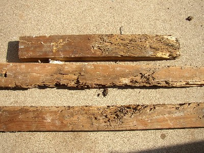 Boards with damage