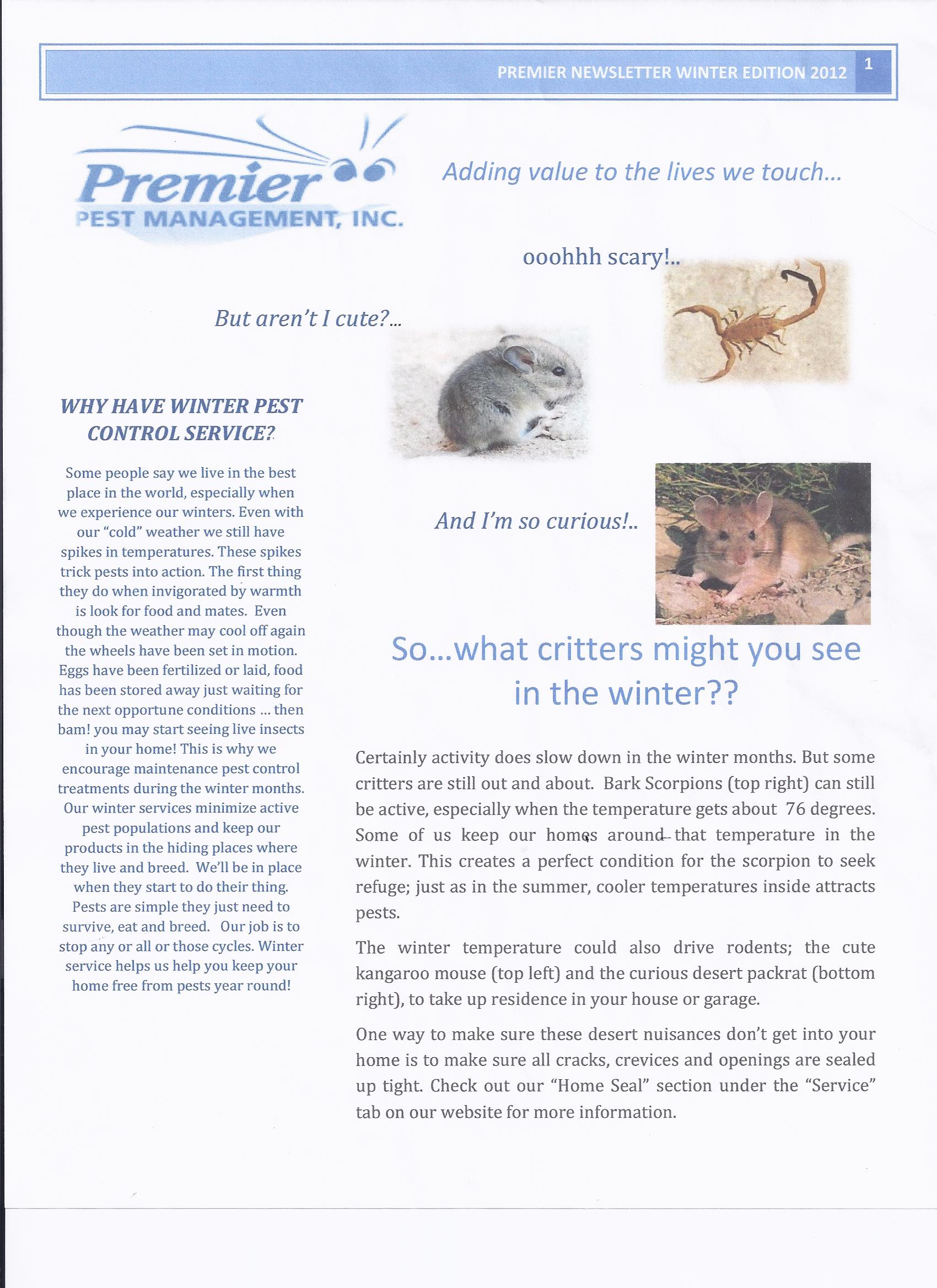 Premier newsletter pg1